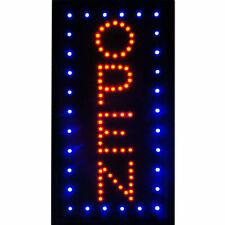 19�×10� Vertical Animated Motion Led Light Open Neon Business Sign Bar Café Shop