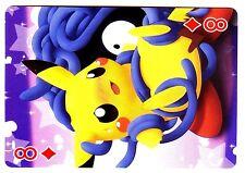 PROMO POKEMON JAPANESE CARD -CAJ DOS JAUNE- N°  8 - CARREAU - PIKACHU