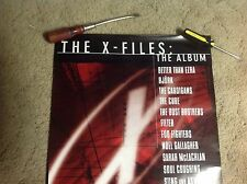24x18apx The X-Files Promo Poster album Cd Lp fox mulder vintage musicll