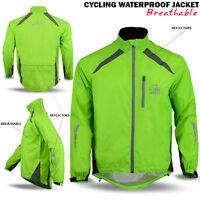 Cycling Waterproof Jacket Rainproof Breathable High Hi Visibility Vis Viz Yellow