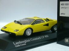 WOW EXTREMELY RARE Lamborghini Countach LP400 1974 Yellow 1:43 Minichamps-Espada