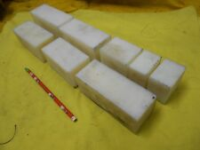 """8 pc Lot of Natural Delrin Square Bar machinable plastic flat bar stock 2"""" x 2"""""""