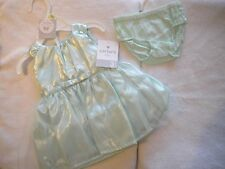 NWT CARTERS 3 MONTHS GIRLS LINED SATIN POLYESTER DRESS & DIAPER COVER