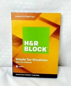 H&R Block 2019  Basic Windows Federal Tax Software Disk &/Or Download