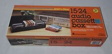 ADD N STAC AUDIO CASSETTE BOX WITH COVER UNUSED NOS