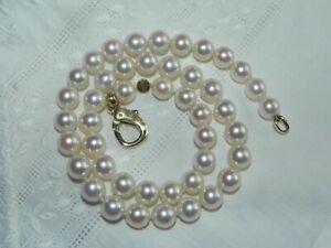 Perlenkette Schöffel 9mm 750 Gold