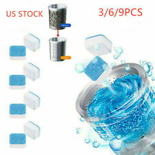 3/6/9 Washing Machine Effervescent Tablet Cleaning Tablet Washer Cleaner Remover