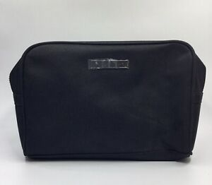 "NIP Gucci Guilty Mens Black Fabric Zip Top Toiletry Cosmetic Bag 9"" X 6.5"" X 3"""