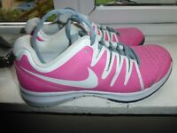 NIKE VAPOR COURT UK 6.5 US 9 EU 40.5 PINK/WHITE LACE UP TRAINERS