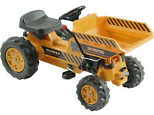 Kalee Pedal Tractor with Dump Bucket Working Yellow Enclosed Chain Drive Age 3 +