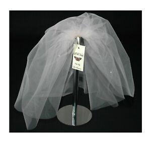 Pink bouffant wedding veil 2T plain short shoulder length bridal raw cut edge
