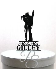 Personalized Wedding Cake Topper - Harley Quinn and Deadpool silhouette