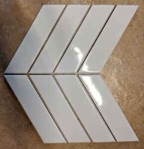 Glossy White Chevron Porcelain Mosaic For Wall And Floor Tile