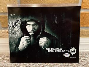 MANNY PACQUIAO SIGNED AUTO 8x10 BOXING PHOTO PSA #AI57917 PROOF BUY AUTHENTIC 41