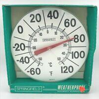Vintage Sunbeam Springfield Weatherproof  Outdoor Thermometer New w/ Blemish SH