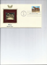 First day cover, Golden Replica stamp, & actual stamps, Horses