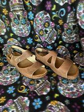"WOLKY ""Liana"" Taupe Leather Slingback Comfort Sandals Sz 36 EU"