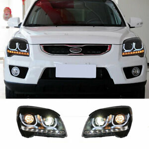 For Kia Sportage LED Headlights Projector HID DRL Replace OEM Halogen 2009-2010
