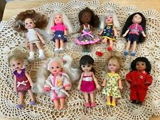 Barbie Kelly and Friends in Clothes/outfits Lot Of 10 Dolls