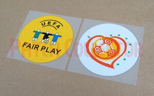 European Championship 2004 + Fair Play Sleeve Soccer Patch/Badge - Plastic