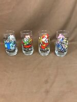 Set of 4 Vintage 1985 Alvin And The Chipmunks Drinking Glasses