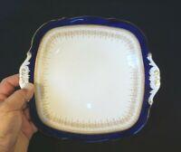 Beautiful Royal Worcester Regency Blue Cake Plate