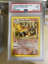 PSA 9 BLAINES CHARIZARD - Strong 9 - Holo Wotc Pokemon Card - ENGLISH