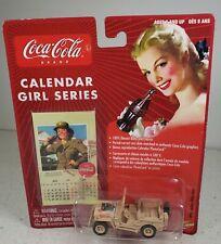 Johnny Lightning Military Willys Jeep #12 Coca-Cola Calendar Girl 1:64 Diecast