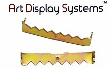 Ads 100 No Nail Sawtooth Picture Hangers - 1 3/4 Inch - Brass