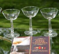 Vintage Cocktail Martini Glasses, Set of 6, Mixologist Craft Cocktail Glasses