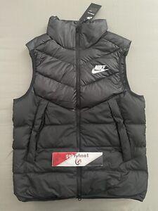 """Nike Sportwear Down Fill Windrunner Vest """"Black"""" 928859-010 Men's Size Medium"""