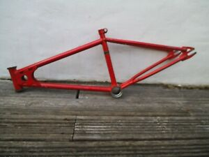 old school bmx frame and forks CW handlebars Kuwahara project parts