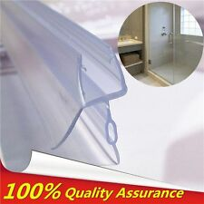 PVC Shower Screen Stop Water Seal Strip Lining Bar 4-6mm Curved Glass 17mm Gap