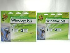 Duck Indoor Insulation Windows Crystal Clear Shrink Film Kits Energy Saving 2 Ct