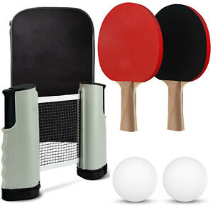 INSTANT TABLE TENNIS GAME INDOOR PORTABLE TRAVEL PING PONG BALL SET EXTENDABLE