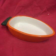 "Hamster Pot Bowl Carrot Shaped 5 x 2.5"" Dish Water Food Treats Mice Rat Gerbil"