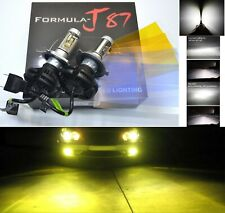 LED Kit X3 50W 9003 HB2 H4 3000K Yellow Two Bulbs Head Light Replace Motorcycle
