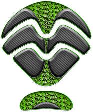 Tank pad protege protection de reservoir moto Kawasaki er6 er-6 650 carbone vert