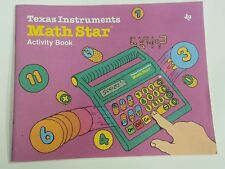 Vintage 1986 Texas Instruments Math Star Electronic Handheld Game Activity Book