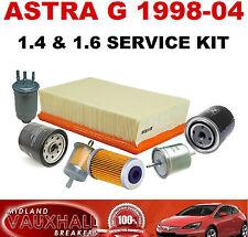 ASTRA G MK4 SERVICE KIT 1.4 1.6 8V 16V Z16SE Z16XE OIL AIR PETROL FUEL FILTER