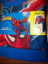 Spiderman Flannel Flame Resistant 2 Piece Pajama PJ Set Boys Size 8 NEW #935