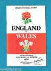 #WW. RUGBY UNION PROGRAM - ENGLAND V WALES, 6th March 1982