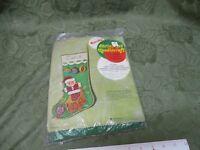 Santa Jack-In-A-Box Jeweled Christmas Stocking by Bucilla Vintage Needlecraft