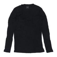 River Island Mens Size S Cotton Striped Black Jumper
