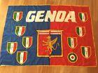 BANDIERA CALCIO STADIO GENOA CRICKET FOOTBALL CLUB 1893 FORMATO GRANDE ANNI '80