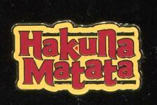 The Lion King Icon Hakuna Matata Disney Pin 125353