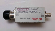 Advantest Impedance Converter 9KHz-120MHz Type N to BNC Made in Japan