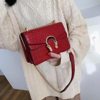 New Women Shoulder Handbag PU Leather Chain Crossbody Bag Tote Messenger Purse