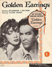 Golden Earrings as sung in the Paramount Picture - 1946 Sheet Music