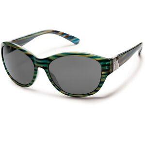 Suncloud Twilight Blue Stripe Sunglasses w/ Polarized Gray Lens
